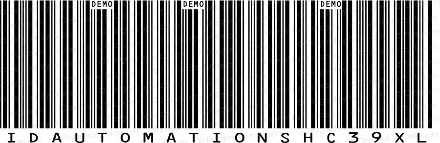 IDAutomationSHC39XL Regular Version 5.02 2005