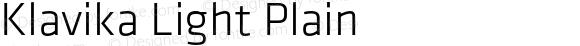 Klavika Light Plain