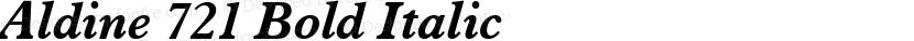 Aldine 721 Bold Italic Preview Image