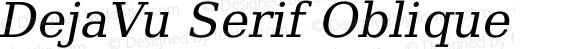 DejaVu Serif Oblique
