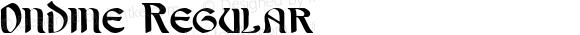 Ondine Regular Macromedia Fontographer 4.1 26/04/2005