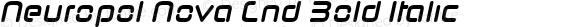 Neuropol Nova Cnd Bold Italic preview image