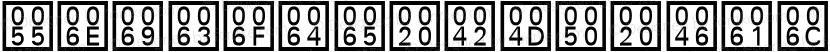 Unicode BMP Fallback SIL Regular Preview Image