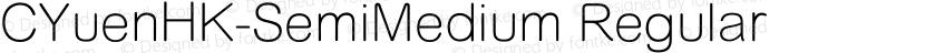 CYuenHK-SemiMedium Regular Preview Image
