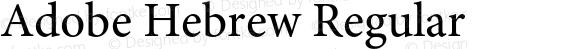 Adobe Hebrew Regular Version 1.01 build 009