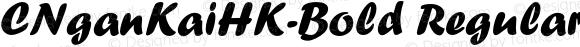 CNganKaiHK-Bold Regular Version 1.00