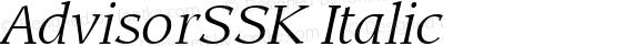 AdvisorSSK Italic Macromedia Fontographer 4.1 7/25/95