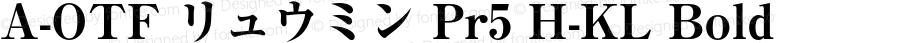 A-OTF リュウミン Pr5 H-KL Bold Version 1.004;PS 1.101;Core 1.0.38;makeotf.lib1.6.6565