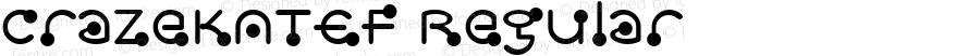 CrazeKATEF Regular Macromedia Fontographer 4.1 4/29/03
