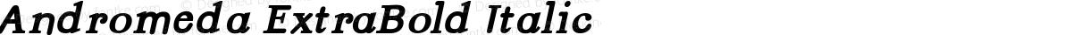 Andromeda ExtraBold Italic