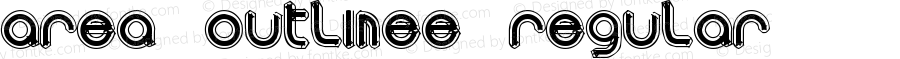 area OUTLINEe Regular Macromedia Fontographer 4.1.5 9/4/01