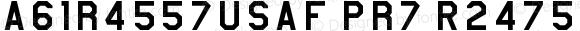 AmarilloUSAF Pro Regular Altsys Fontographer 4.0.2 10/16/94