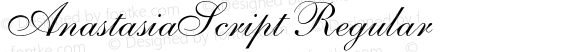 AnastasiaScript Regular OTF 1.0;PS 001.001;Core 116;AOCM 1.0 28