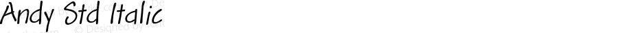 Andy Std Italic Version 1.012;PS 001.000;Core 1.0.38;makeotf.lib1.6.5960