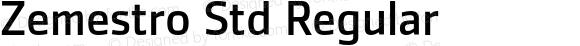 Zemestro Std Regular Version 1.000;PS 001.000;hotconv 1.0.38