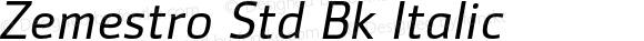 Zemestro Std Bk Italic Version 1.000;PS 001.000;hotconv 1.0.38