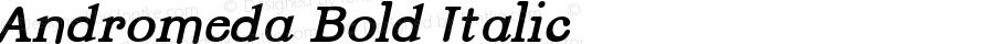 Andromeda Bold Italic Version 001.000