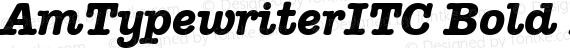 AmTypewriterITC Bold Italic preview image