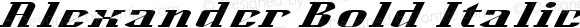 Alexander Bold Italic