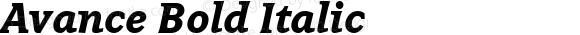 Avance Bold Italic