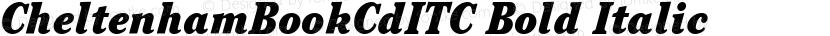 CheltenhamBookCdITC Bold Italic Preview Image