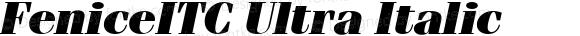 FeniceITC Ultra Italic