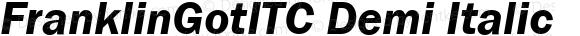 FranklinGotITC Demi Italic
