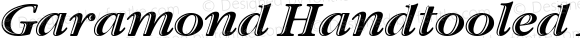 Garamond Handtooled ITC Italic OS