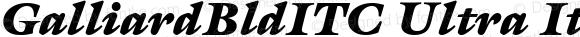 GalliardBldITC Ultra Italic