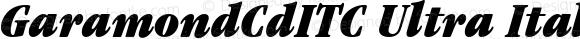 GaramondCdITC Ultra Italic