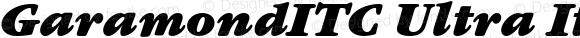 GaramondITC Ultra Italic