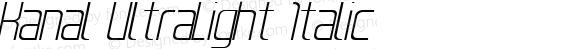 Kanal UltraLight Italic