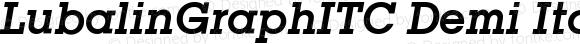 LubalinGraphITC Demi Italic