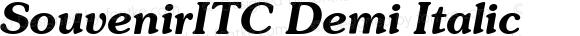 SouvenirITC Demi Italic