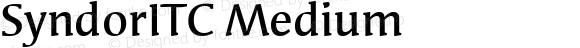 SyndorITC-Medium
