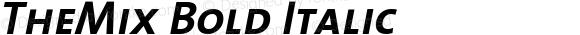 TheMix Bold Italic Version 1.0