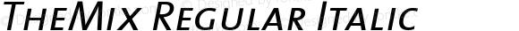 TheMix Regular Italic Version 1.0