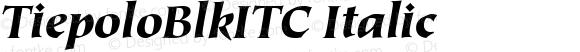 TiepoloBlkITC Italic Version 001.000