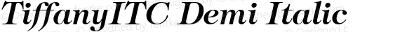 TiffanyITC Demi Italic
