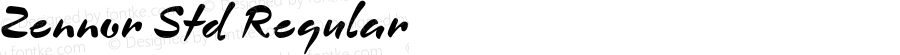 Zennor Std Regular Version 1.000;PS 1.0;hotconv 1.0.38