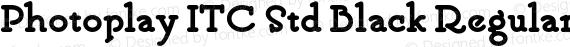 Photoplay ITC Std Black Regular preview image