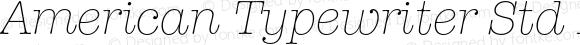 American Typewriter Std Lt Italic Version 2.001;PS 002.000;hotconv 1.0.38