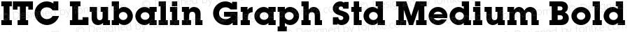 ITC Lubalin Graph Std Medium Bold Version 1.000;PS 001.000;hotconv 1.0.38
