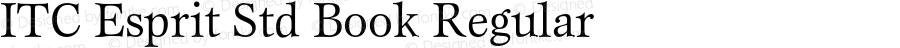ITC Esprit Std Book Regular Version 1.180;PS 001.000;hotconv 1.0.38