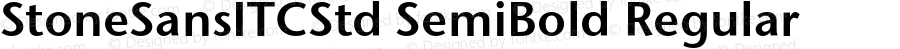 StoneSansITCStd SemiBold Regular Version 1.000;PS 001.000;hotconv 1.0.38