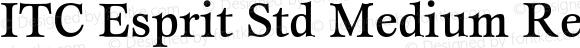 ITC Esprit Std Medium Regular Version 1.180;PS 001.000;hotconv 1.0.38
