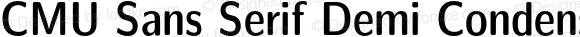 CMU Sans Serif Demi Condensed DemiCondensed