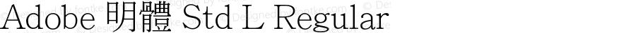 Adobe 明體 Std L Regular Version 1.003;PS 1.001;Core 1.0.38;makeotf.lib1.6.6565