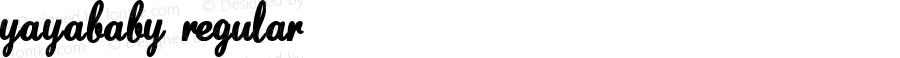 YaYaBaby Regular Macromedia Fontographer 4.1.4 3/27/04