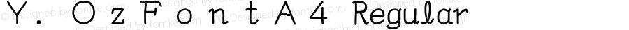 Y.OzFontA4 Regular Version 9.37